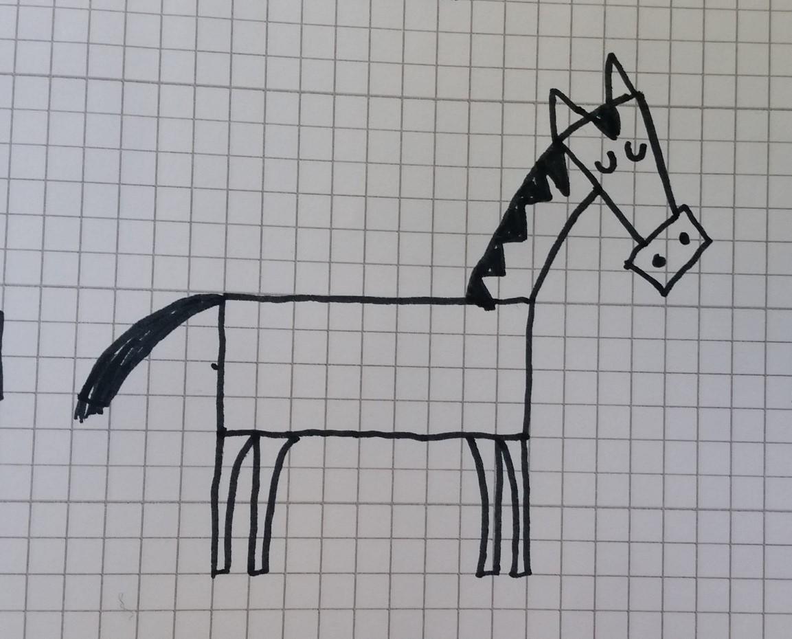 Canzoni per bambini disegnare un cavallo for Disegno cavallo per bambini