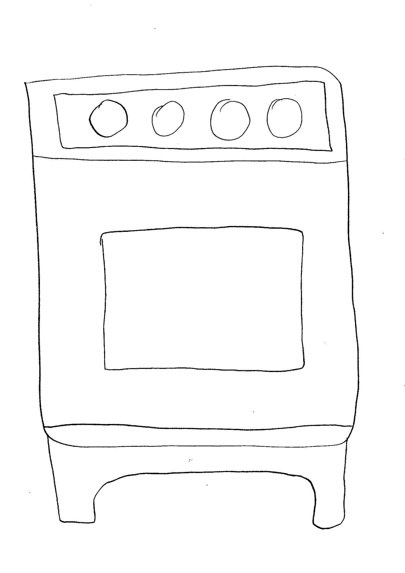 disegni-da-colorare-bambini I forno cucina
