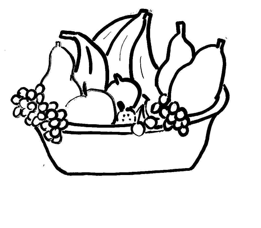 Disegni Da Colorare Bambini I Cesto Di Frutta