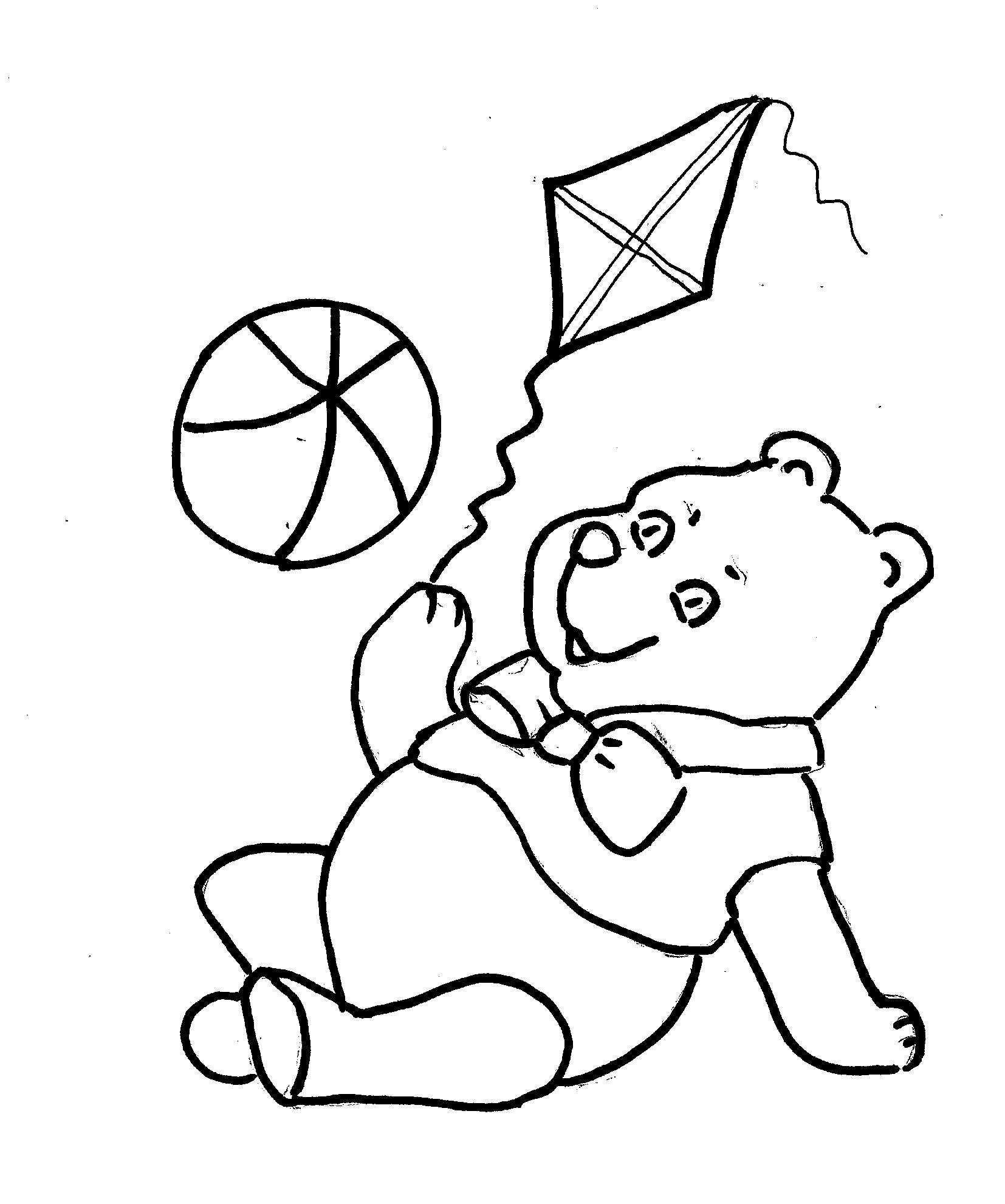 Disegni da colorare bambini i orsacchiotto - Orsacchiotto da colorare in ...