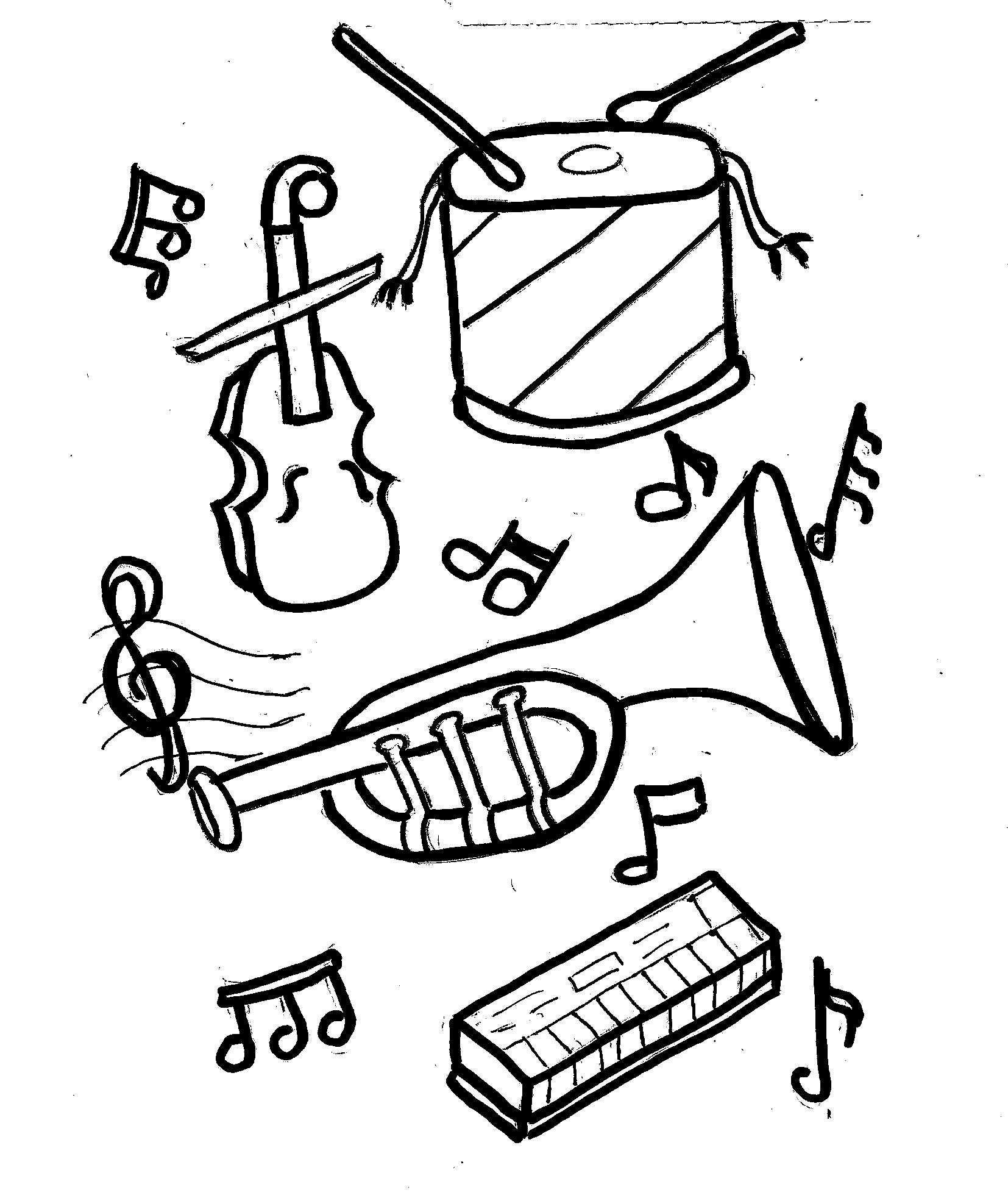 Disegni Da Colorare Bambini I Strumenti Musicali