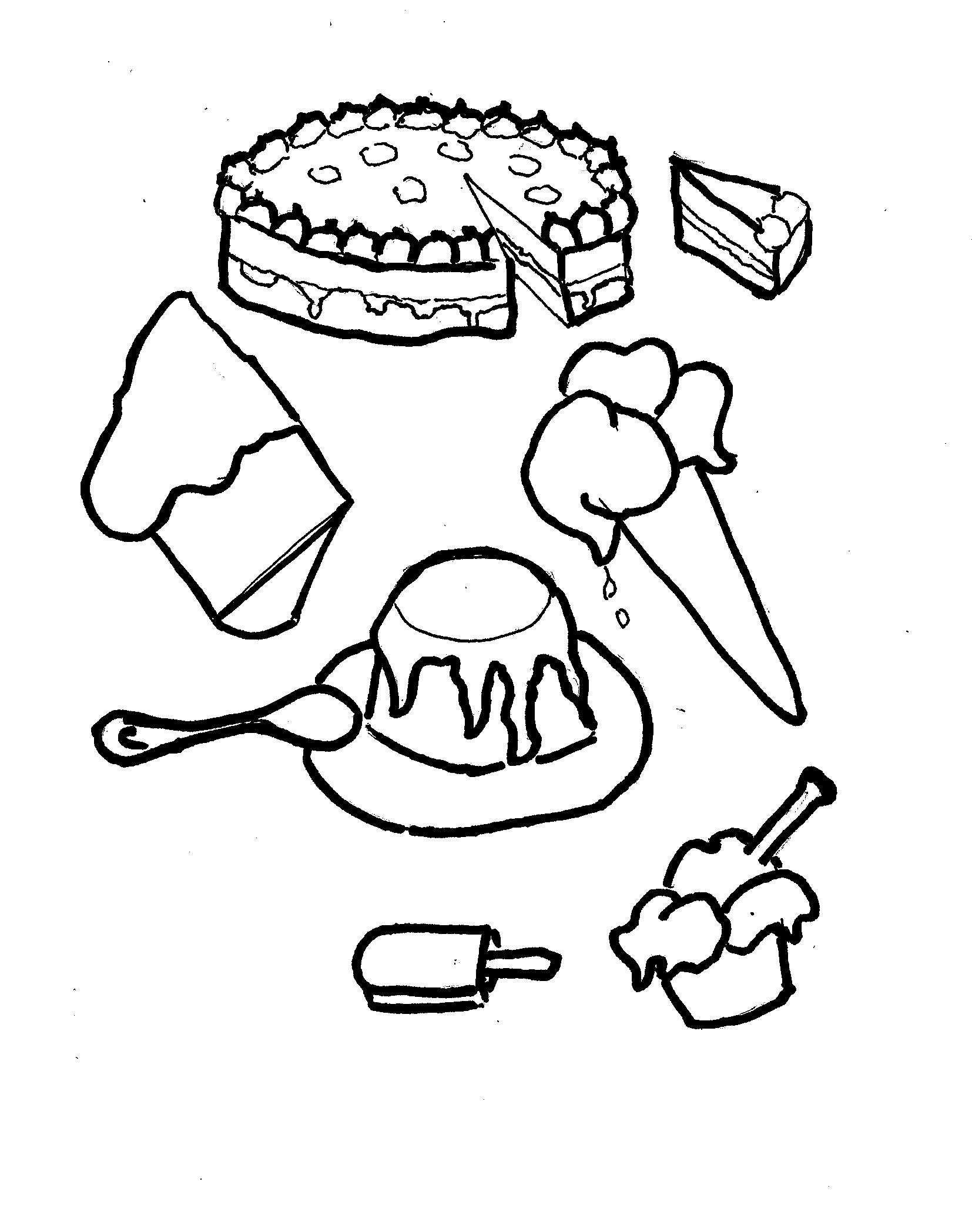 Disegni Da Colorare Bambini I Torte Gelato