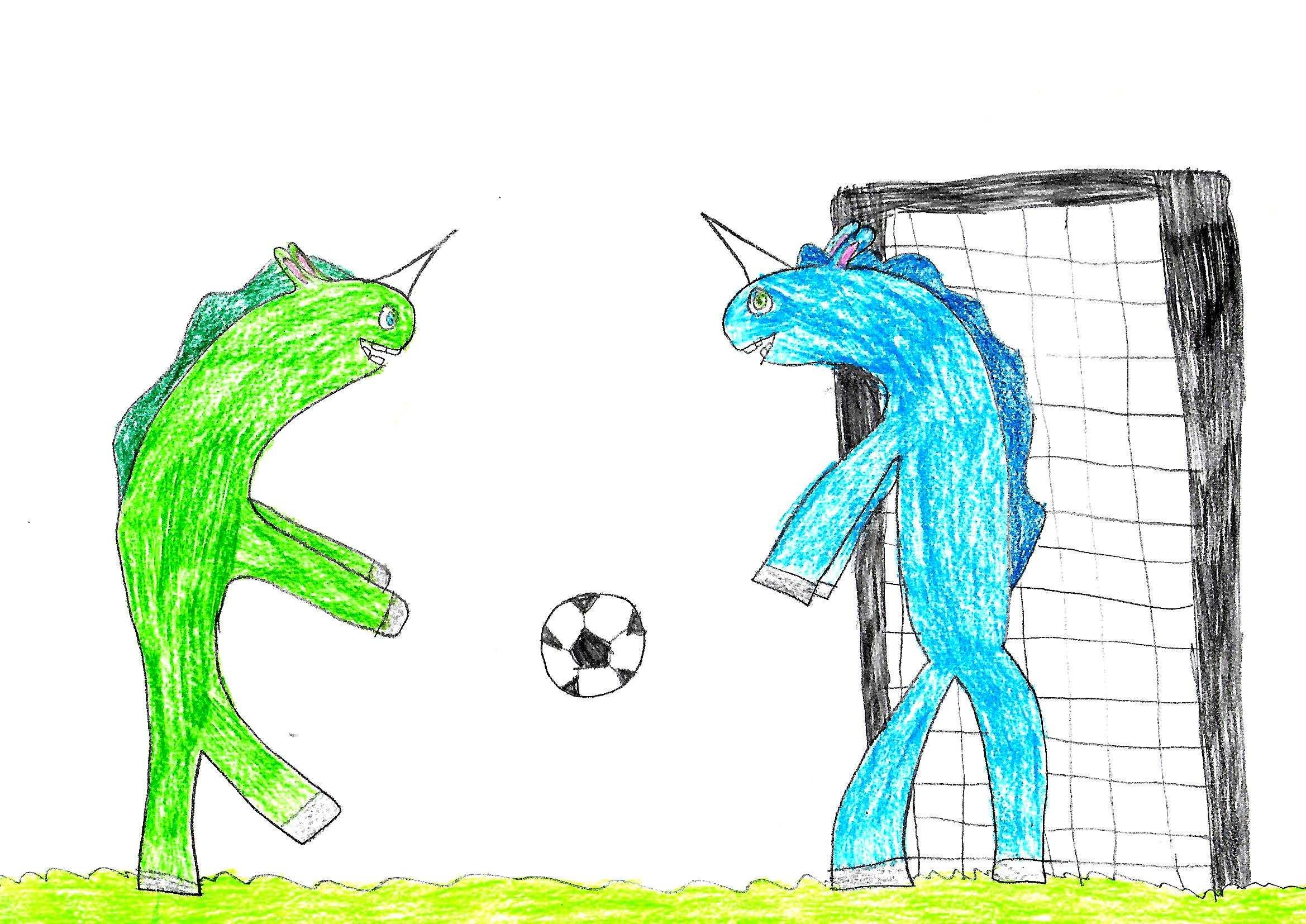 Disegni Bambini Unicorni Che Giocano A Calcio